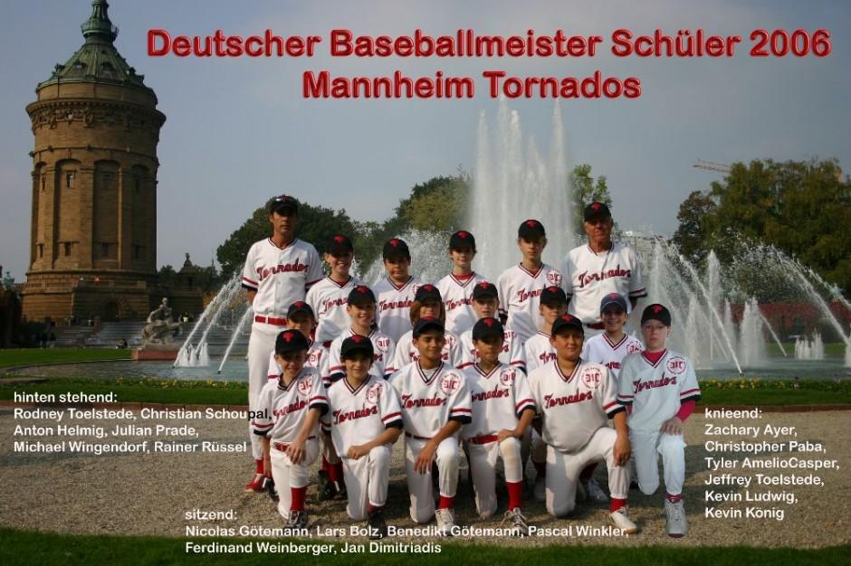 Baseball Schüler Team 2006