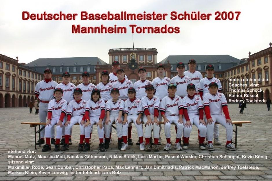 Baseball Schüler Team 2007