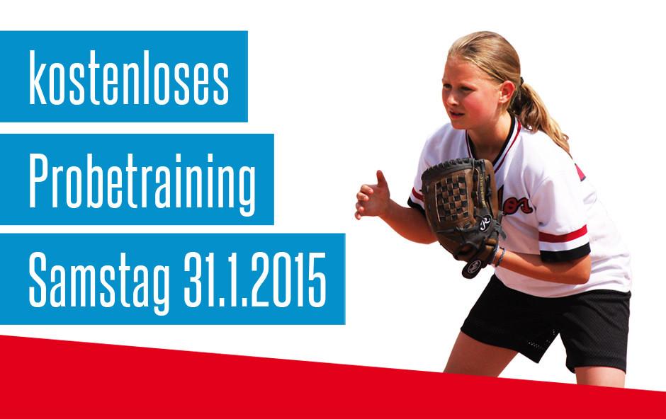 Kostenloses Softball Probetraing für Mädchen!